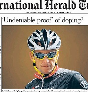 A photo of cyclist Lance Armstrong