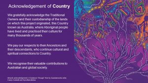 Acknowledgement of Country message