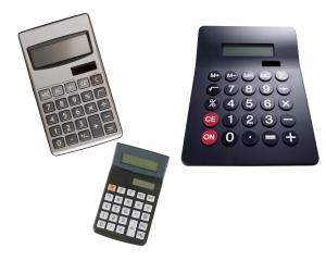 Image of three different calculators